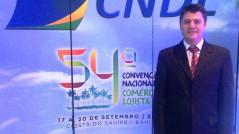 Carlos Fabro, presidente da CDL de Itapema, marcou presença na Convenção.